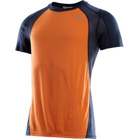 Aclima LightWool SS Sports Shirt Men orange popsicle/navy blazer